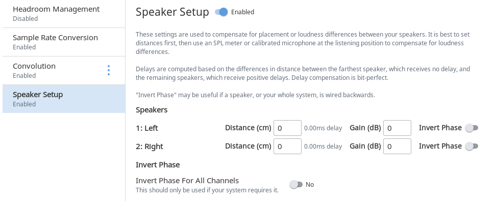 roon knowledge base dsp engine speaker setup