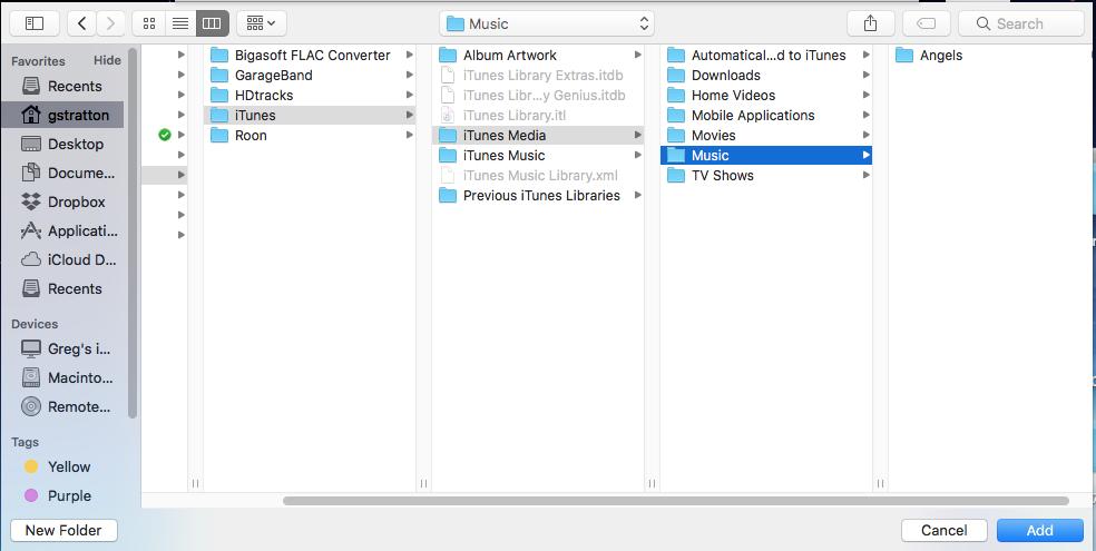 Roon Knowledge Base - FAQ: How do I create a shared folder